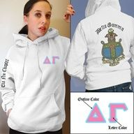 You would think that someone who has been an AST for 18 years would have clothing with the crest on it. I should get on that... Sorority Crest Hoody $39.95 #Greek #Sorority #Clothing