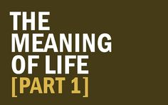The Meaning of Life? Here are 4 Options