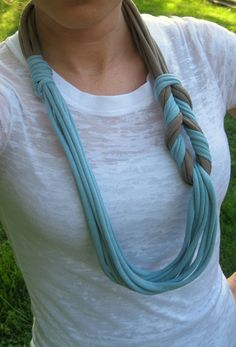 Braided Scarf T shirt Scarf Spring Scarf by Scarvesbystephy, $18.00