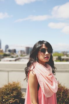 Sorbet Scarf - Look pretty in pink with this delicious light and airy scarf. It's just too sweet not to try on for size!