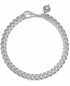 Lauren Ralph Lauren Necklace, Silver-Tone Large Curb Chain Necklace - Fashion Jewelry - Jewelry & Watches - Macy's