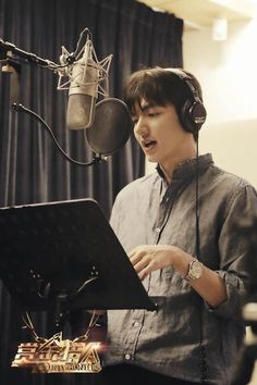 Lee Min Ho sings the Bounty Hunter theme song