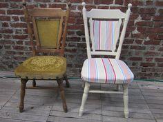 Duo de chaises avant-après.