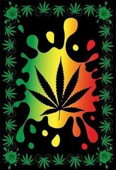 Splatter Hemp Leaf - Tapestry, 58 in. x 82 in. Weed Wallpaper, Iphone Wallpaper, Rasta Art, Reggae Art, Weed Pictures, Hemp Leaf, Marijuana Art, Dope Wallpapers, Weed Humor