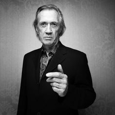 David Carradine (1936-2009) - American actor and martial artist.  by Denis Rouvre