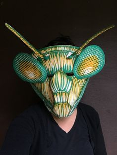Mask Praying Mantis Halloween DIY Adults Kids by QuestionablePress