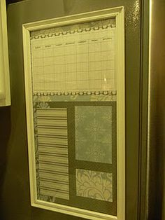 Magnetic Refrigerator Organizer - I would want this just to hang stuff on so the fridge doesn't get cluttered!