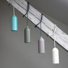 The upcycling collection FIRELIGHT is a handmade pendant that is made by dividing a fire extinguisher.