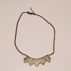 J Crew Necklace In great condition.. Gently worn a handful of times. A small, superficial scratch as pictured. J. Crew Jewelry Necklaces