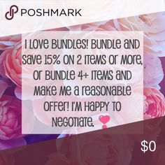 Bundle and you'll save on shipping! I love bundles, and I'd love to ship you one! Dresses