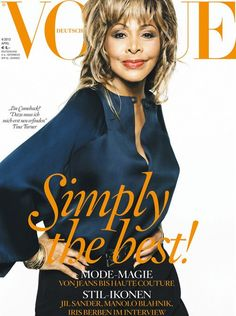 Tina Turner makes a her VOGUE cover debut for the German edition of the publication looking AMAZING!!