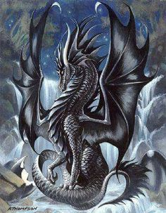 This seems like a dragon who is old and wise. Elder dragon = a lot of wisdom Fantasy Kunst, Fantasy Art, Magical Creatures, Fantasy Creatures, Fantasy Wesen, Dragon Medieval, Medieval Fantasy, Ultimate Dragon, Dragon Dreaming