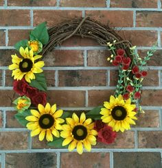 Grapevine Wreath  Fall Wreath  Fall Grapevine by LibertyWayWreaths