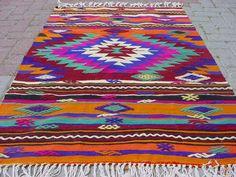 "VINTAGE Turkish Kilim Rug Carpet, Handwoven Kilim Rug,Antique Kilim Rug,Decorative Kilim, Natural Wool  37"" X 57,8"""