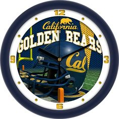 Cal Golden Bears 12 in. Helmet Clock
