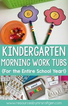 Kindergarten Morning Work Tubs for the entire school year! : Kindergarten Morning Work Tubs for the entire school year! Kindergarten Morning Work, Kindergarten Lesson Plans, Kindergarten Centers, Homeschool Kindergarten, Homeschooling, Morning Work For Preschool, Kindergarten Independent Work, Early Finishers Kindergarten, Kindergarten Tables