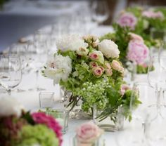 www.italianfelicity.com #wedding #centerpiece #tabledecor #peonies