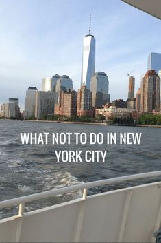 """You always see lists of """"Top things to see and do in NYC"""", but how about what NOT to do in New York."""