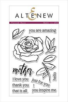 Penned Rose Stamp Set