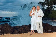 A beautiful night for a Makena Cove Maui wedding!