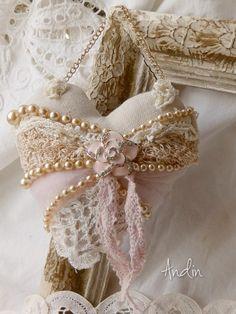 Vintage heart embellishment