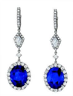Emsaru blue sapphire earrings