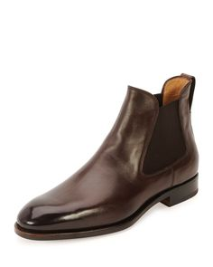 Handmade men brown leather boots, men ankle high real leather boot, m Semi Formal Shoes, Brown Leather Chelsea Boots, Real Leather, Leather Shoes, Black Leather, Comfortable Mens Dress Shoes, Baskets, Chelsea Boots Outfit, Mens Boots Fashion