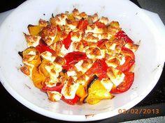 Tomaten - Paprika - Pfanne mit Schafskäse
