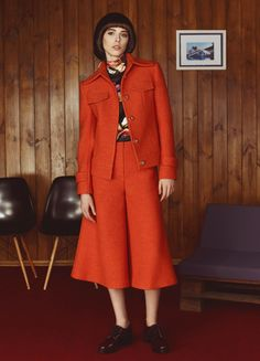 Orange Wool Jacket | FLOW THE LABEL | NOT JUST A LABEL