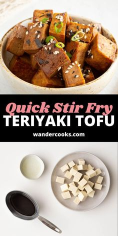 5 minute Teriyaki Tofu bites? Yes, please. Perfect as a quick weeknight meal, toss on top of a sushi bowl, wrap in temaki sushi or eat on their own for a quick snack. Quick Weeknight Meals, Easy Meals, Teriyaki Tofu, 5 Minute Meals, Quick Stir Fry, Sushi Bowl, Quick Snacks, World Recipes, International Recipes