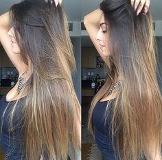 Long ombré hair