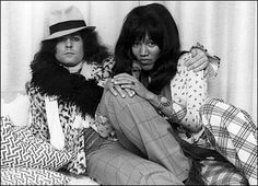T.Rex (Marc Bolan and Gloria Jones)..Bolan was being driven home from a night out by his girlfriend Gloria Jones (r) when he died. Jones - also a singer - recovered from serious injuries sustained in the accident.