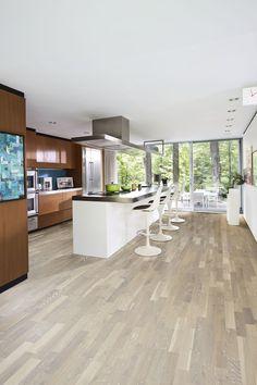 nice Idée relooking cuisine - Parchetul din lemn triplustratificat de stejar Limestone este un model cu trei l...