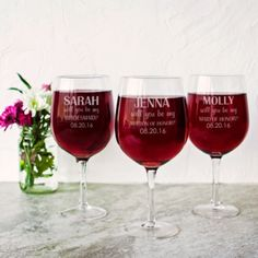 A special gift for your bridesmaids! See more here: https://www.bekalane.com/products/personalized-will-you-be-my-bridesmaid-25-oz-xl-wine-glass