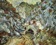Vincent van Gogh, A Path Through the Peiroulets Ravine, 1889.  http://vincent-van-gogh-gallery.org/