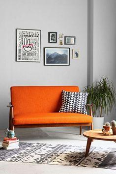 Deco de la maison home decoration on pinterest bureaus industrial style and salons - Deco room oranje ...