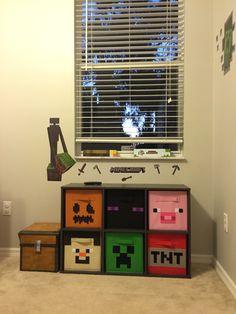 Minecraft Room Decor, Easy Minecraft Houses, Minecraft Bedroom, Minecraft Party, Minecraft Furniture, Minecraft Cake, Minecraft Buildings, Creeper Minecraft, Minecraft Crafts