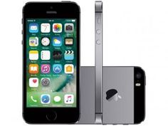 "iPhone 5s Apple 16GB Cinza Espacial Tela 4"" Retina - 4G Câmera 8MP + Frontal iOS 10 Proc. M7 Touch ID"