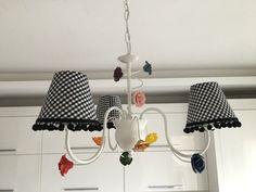 Mackenzie childs inspired diy kitchen chandelier