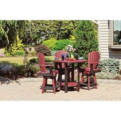 Now $440 - Shop this and similar DutchCrafters outdoor tables - More than ever, the lawn, patio and pool are where you rest and relax. Our pub sets have been de...