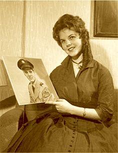 A teenage Priscilla met Elvis in Germany.