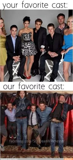 To be fair, I like TVD too (guilty pleasure), but Supernatural is my all-time favorite favorite FAVORITE show of all time.