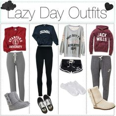 Perfect outfit ideas for a lazy day at home .