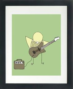 Possible wall art if going with rock star theme