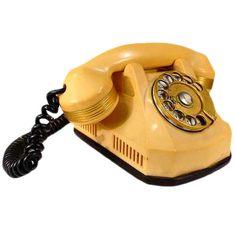 1930s Catalin Gold Mono-phone Telephone