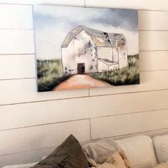 -Beautifully crafted with handpainted strokes-Dimensions: 39 Farm House Colors, Empty Wall Spaces, Old Barns, Living Room Bedroom, Family Room, Walls, Hand Painted, Painting, Painting Art
