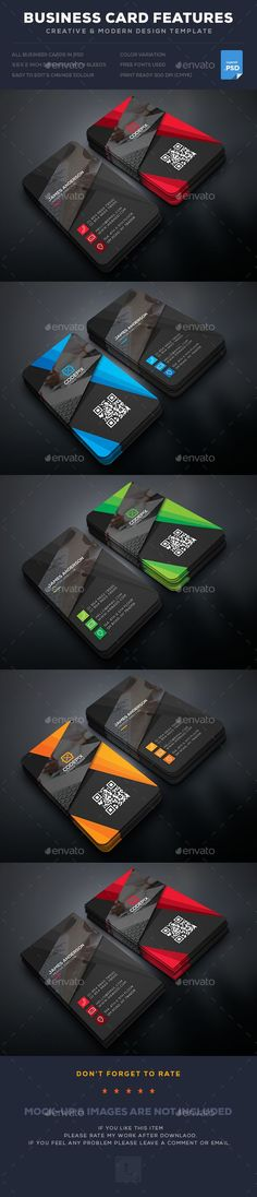 Creative Business Card  — PSD Template #creative #bundle • Download ➝ https://graphicriver.net/item/creative-business-card/18187666?ref=pxcr