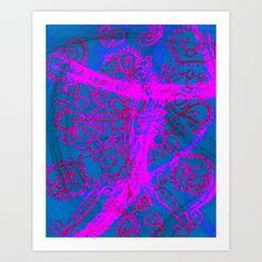 Crayon Love: Mehindi on Paper Art Print by Nina May  - $12.48
