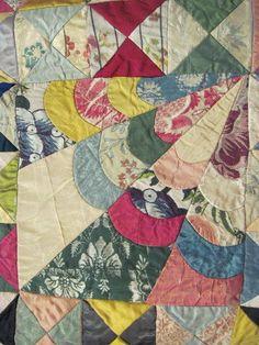 Detail, tapestry quilt seen at Le grenier de Mamounette