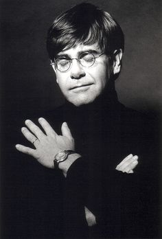 Elton John http://crossingilandmono.tumblr.com/post/60057731008/beauty-of-fame-elton-john